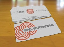 Business Card Design for 8 METER MEDIA