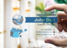 Ripple Group – Transparent Business Card