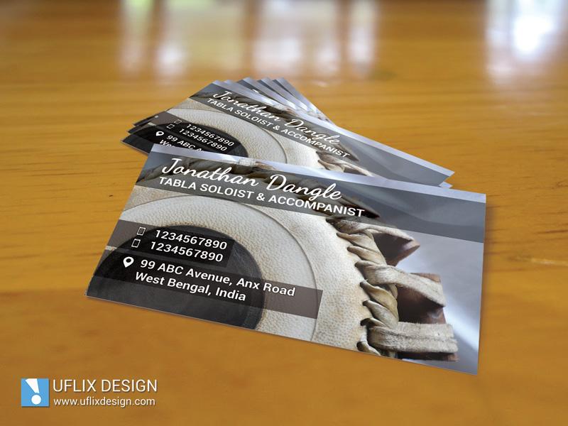 Tabla Player - Business Card - UFLIX DESIGN
