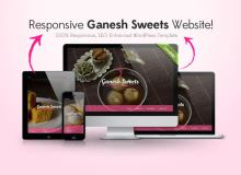 WordPress Template for Ganesh Sweets