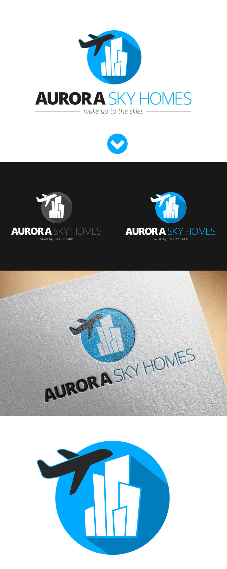 Logo For Aurora Sky Homes Uflix Design