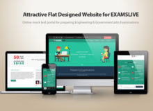 Attractive Flat Designed Website for EXAMSLIVE